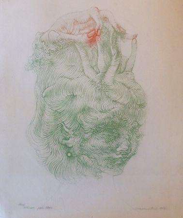 Lithograph Bellmer - CHAPEAU MAIN