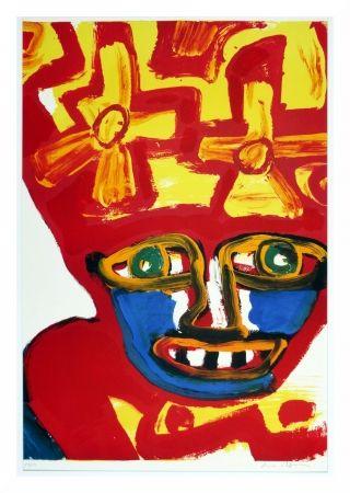Lithograph Lindstrom - Chapeau rouge et jaune