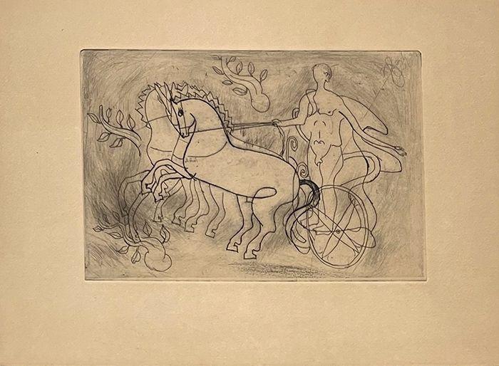 Etching Braque - Char