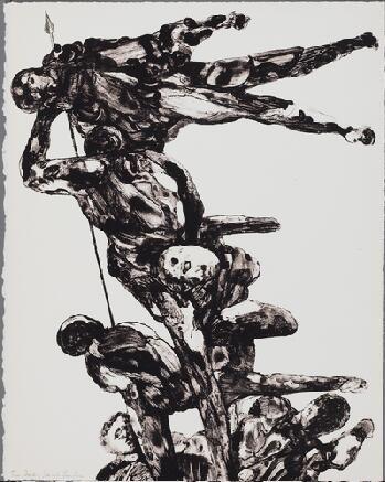 Lithograph Landau - Charades