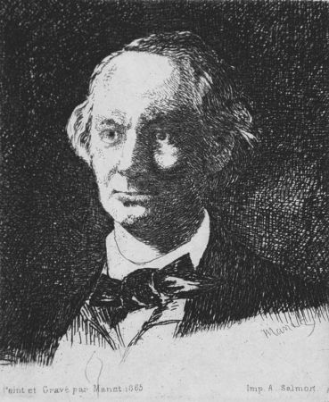 Engraving Manet - Charles Baudelaire de face
