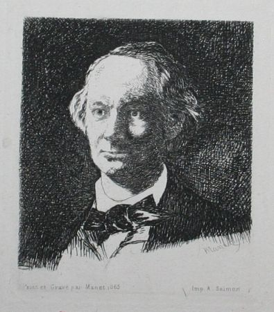 Etching Manet - Charles Baudelaire, Full Face III