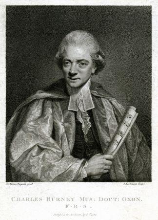 Engraving Bartolozzi - Charles Burney Mus: Oxon./F.R.S., After Sir Joshua Reynolds