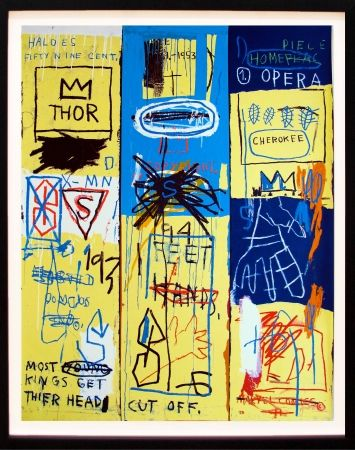 Screenprint Basquiat - Charles the First