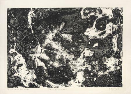 Lithograph Dubuffet - Chars et chevaux célestes