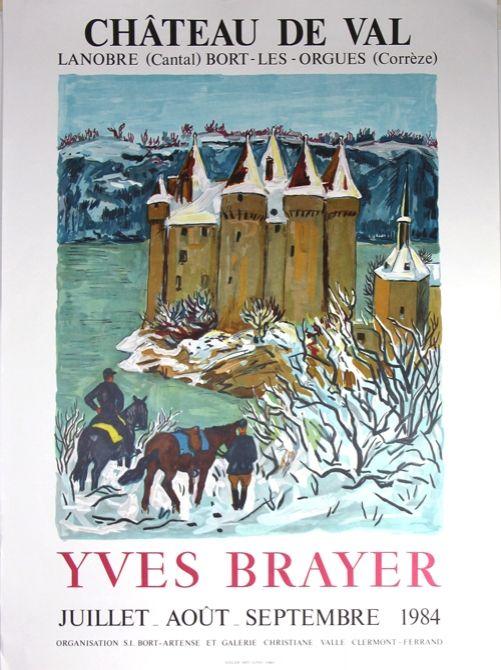 Lithograph Brayer - Chateau de Val