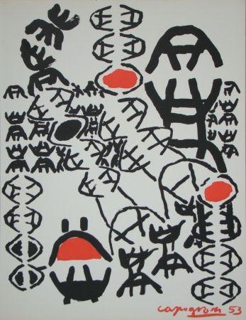 Lithograph Capogrossi - Chemin de croix, 1953