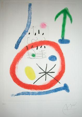 Etching And Aquatint Miró - CHEMIN DE LA RONDE III