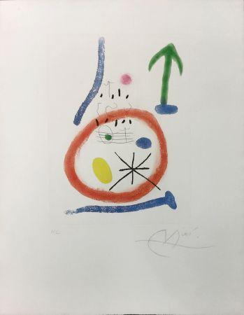 Etching And Aquatint Miró - CHEMIN DE RONDE III
