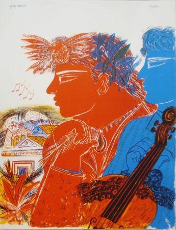Lithograph Fassianos -  Chemins d'arménie