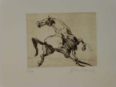 Etching Weisbuch - Cheval