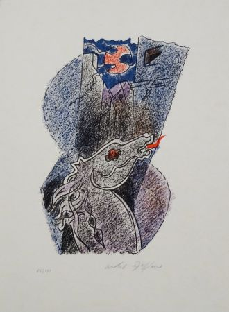 Lithograph Masson - Cheval