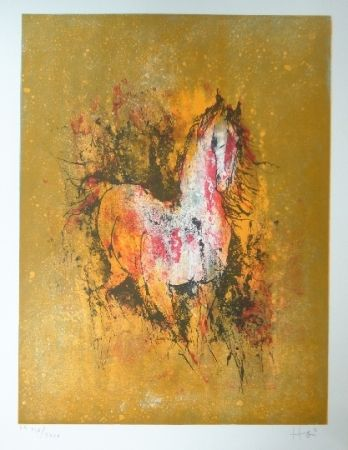 Lithograph Lebadang - Cheval au reveil