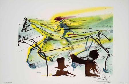 Lithograph Dali - Cheval De Course