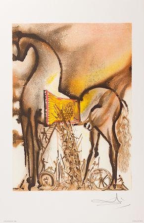 Lithograph Dali - Cheval de Troie (Trojan Horse)