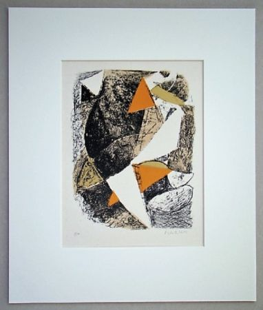 Lithograph Marini - Cheval Et Cavalier