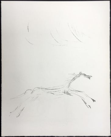 Lithograph Giacometti - CHEVAL GALOPANT (Galopping horse). 1961.