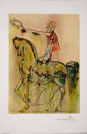 Lithograph Dali - Chevalier Romain