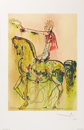 Lithograph Dali - Chevalier Romain (The Roman Cavalier)