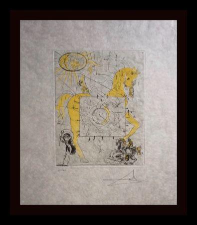Etching Dali - Chevalier Royal de L'Apocalypse