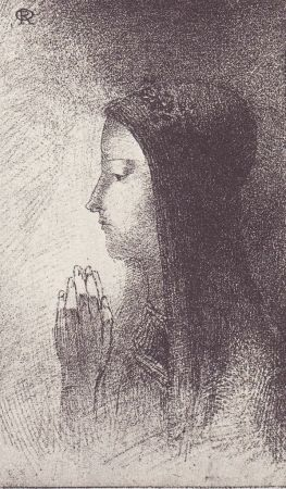 Lithograph Redon - Chevalieres Sentimentales