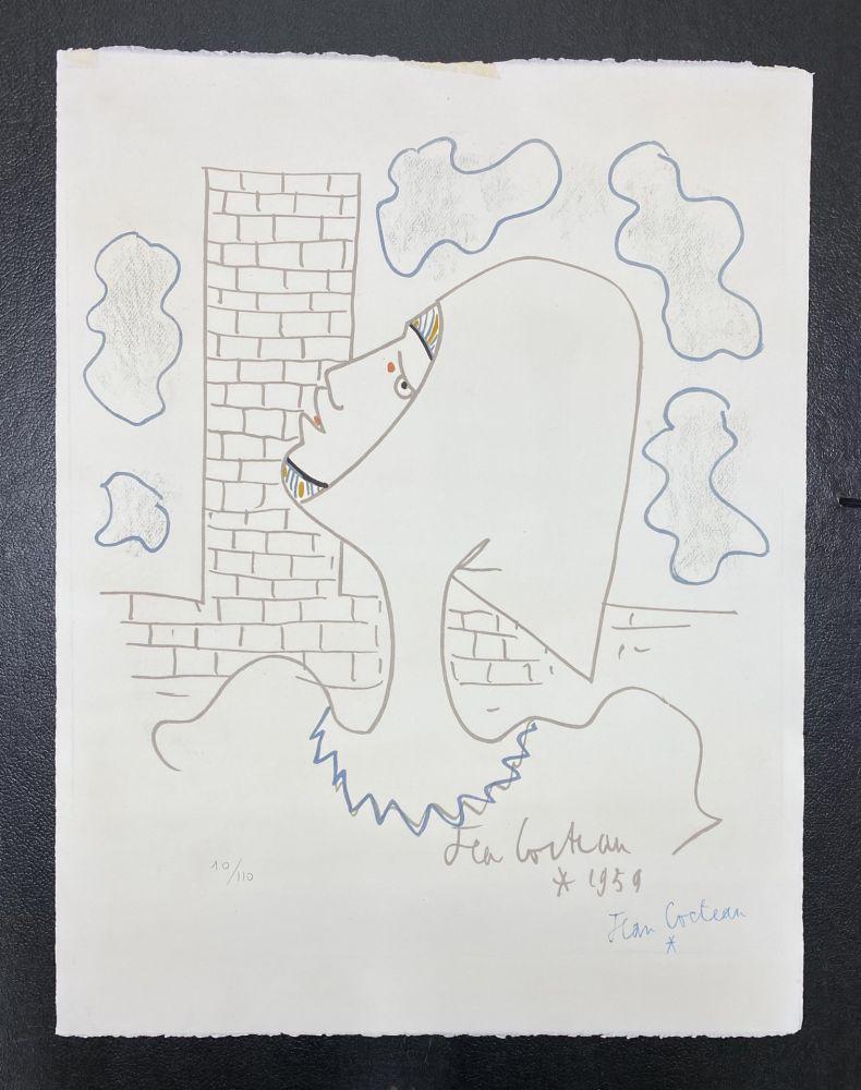 Lithograph Cocteau - Chevaliers de la table ronde