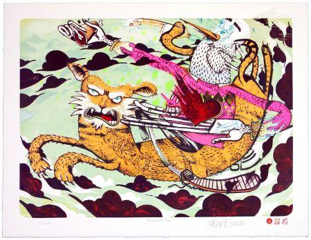 Lithograph Alexone - Chevauche ton Tigre/Ride the Tiger