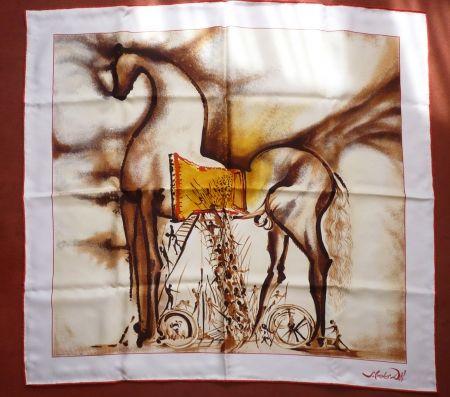 Screenprint Dali - Chevaux daliniens - Cheval de Troie