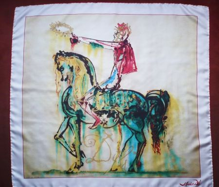 Screenprint Dali - Chevaux daliniens - Le chevalier romain