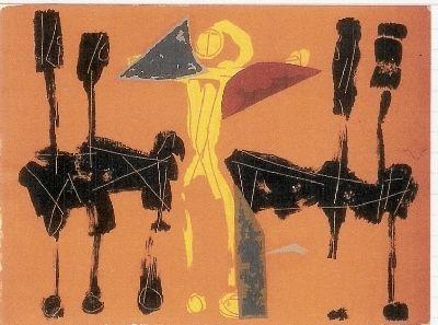 Lithograph Marini - Chevaux et Cavaliers IV