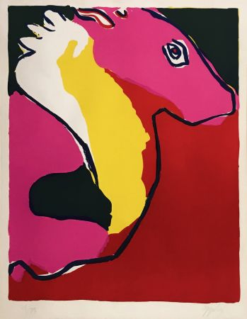 Lithograph Appel - CHEVEL (HORSE)