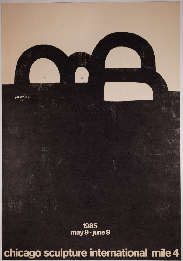 Lithograph Chillida - Chicago