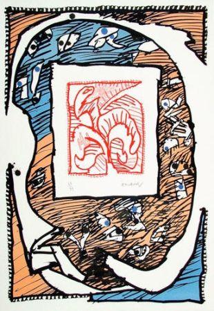 Lithograph Alechinsky - Chicago