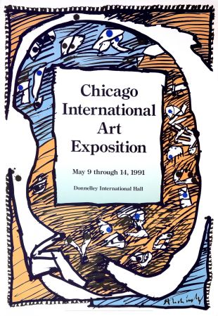Poster Alechinsky - Chicago International Art Exposition