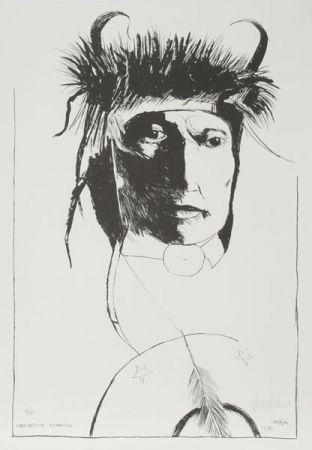 Lithograph Baskin -  Chief Wets It - Assinnboine