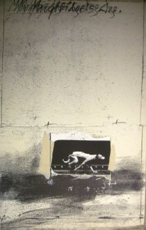 Lithograph Velickovic - Chien