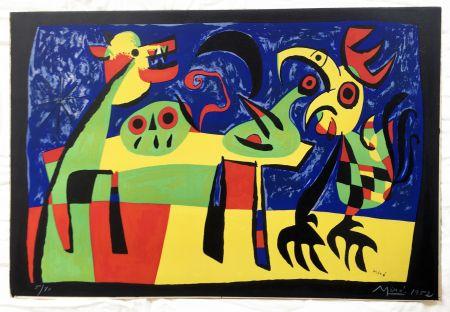 Lithograph Miró - Chien aboyant à la Lune (1952)
