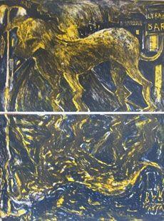 Lithograph Barcelo - Chien Sous La Pluie