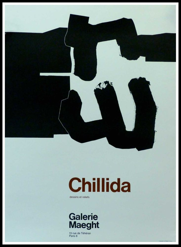 Poster Chillida - CHILLIDA - DESSINS ET RELIEFS GALERIE MAEGHT PARIS