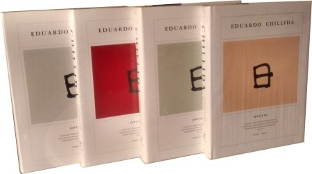 Illustrated Book Chillida - Chillida Opus 4 vol. Catalogue raisonné graphic work. 1959-2001
