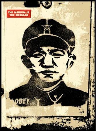 Screenprint Fairey - Chinese Stencil