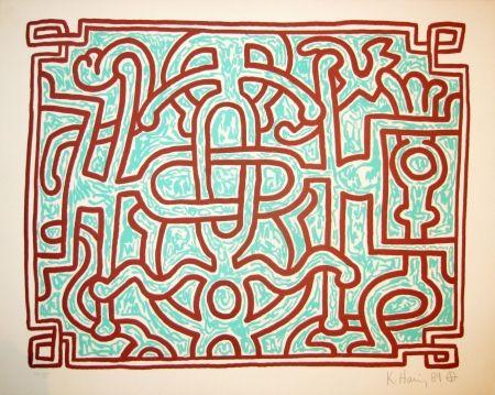 Lithograph Haring - Chocolate Buddha