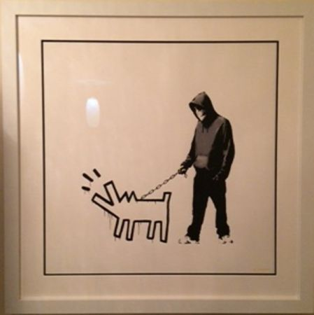 Screenprint Banksy - Choose your weapon - white