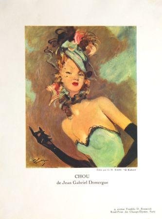 Lithograph Domergue - Chou