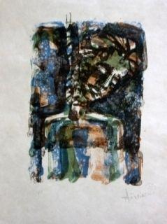 Lithograph Aizpiri - Christ