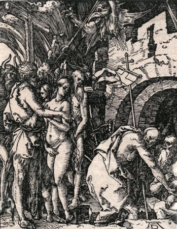 Woodcut Durer - Christ in Limbo
