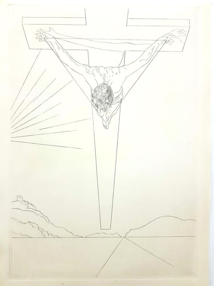 Lithograph Dali - Christ of St John of the Cross