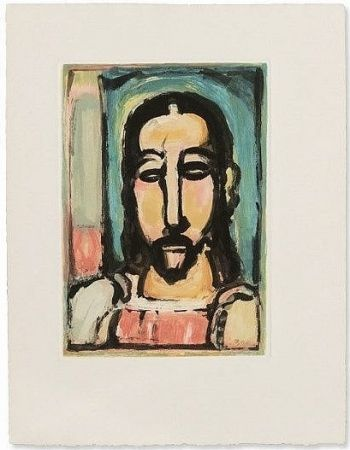 Etching And Aquatint Rouault - Christe de face