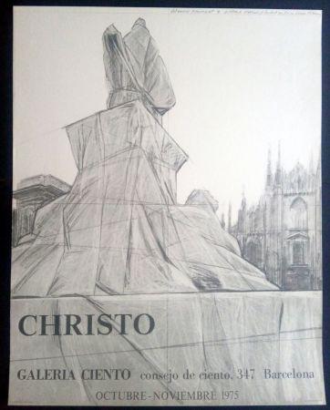 Poster Christo - Christo - Galeria Ciento 1975