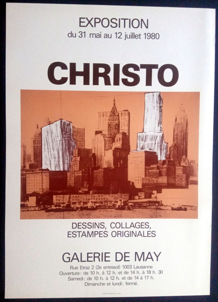 Poster Christo - Christo - Galerie de May 1980